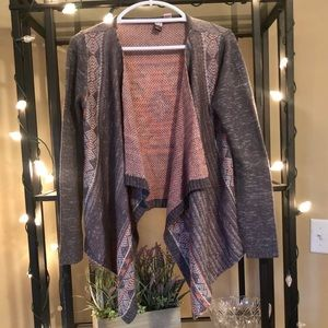 Tribal asymmetric sweater